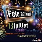 Voir l'evenement : Fête nationale le 13 juillet