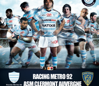 Voir l'evenement : Le Racing Metro 92 contre ASM Clermont Auvergne
