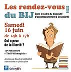 """Voir l'evenement : Les rendez-vous du BIJ : """"Thé Philosophie"""""""