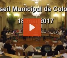 Visionnez la video : Conseil municipal du mois de mai 2017