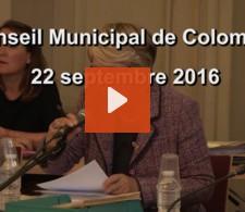 Visionnez la video : Conseil municipal du mois de septembre 2016