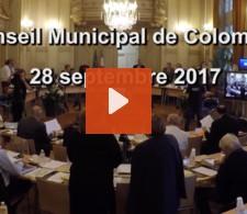 Visionnez la video : Conseil municipal du mois de septembre 2017